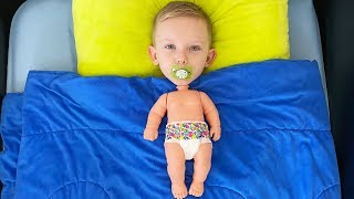 Martin turned into a baby Pretend play
