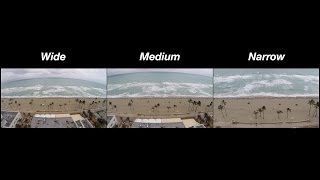 GoPro 3+ Black Edition FOV Settings: Wide, Medium, & Narrow Comparison Test (Video Field of View)