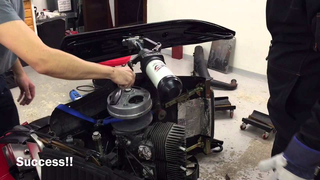 Removing Phazer II clutch with water