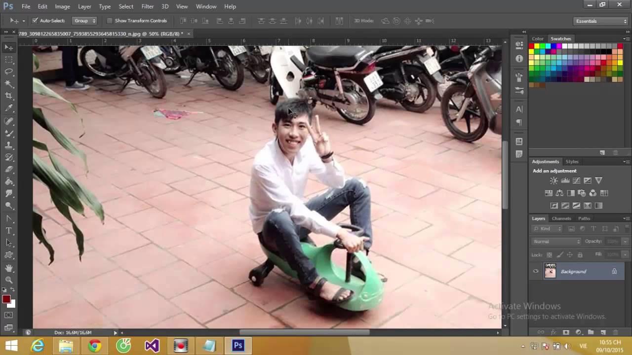 Tăng độ phân giải của ảnh bằng Photoshop CS6