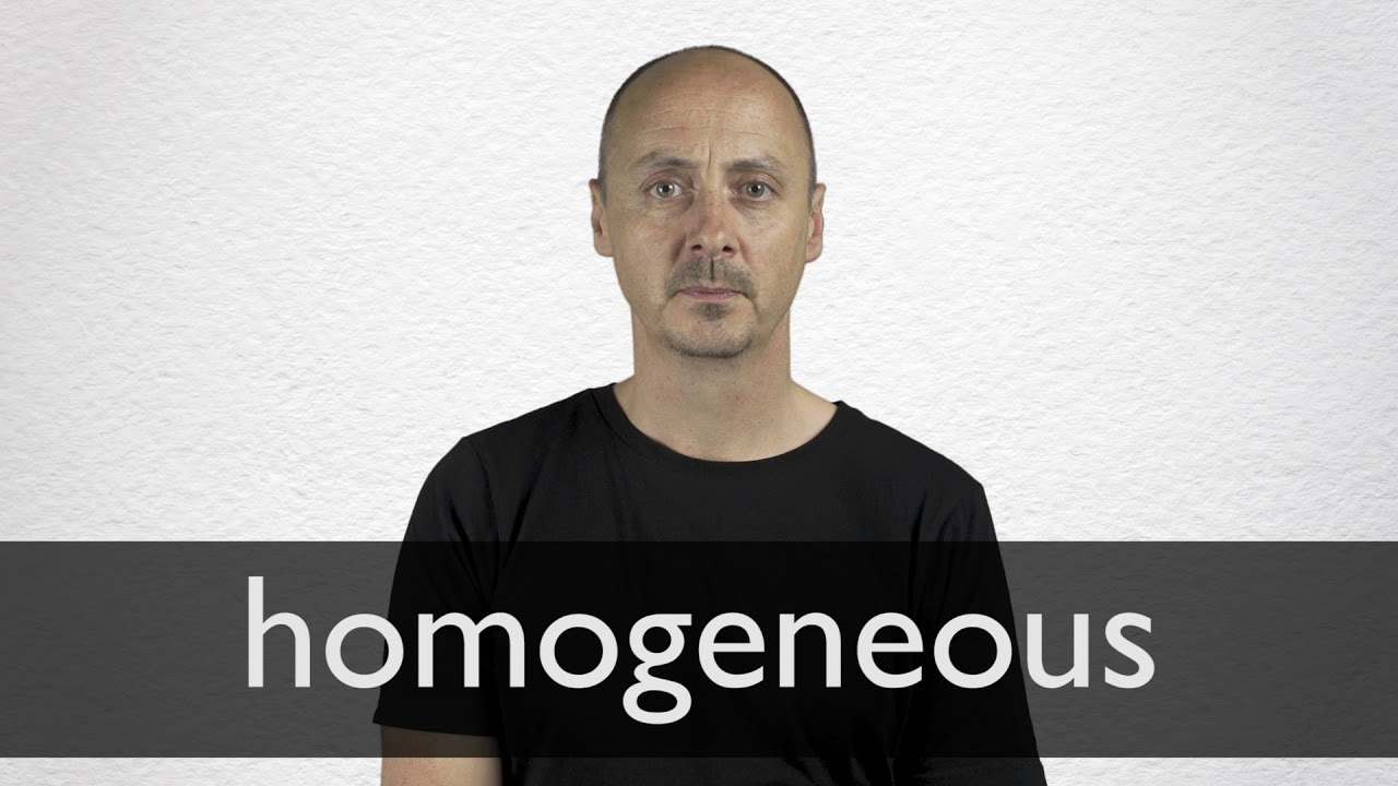 How to pronounce HOMOGENEOUS in British English