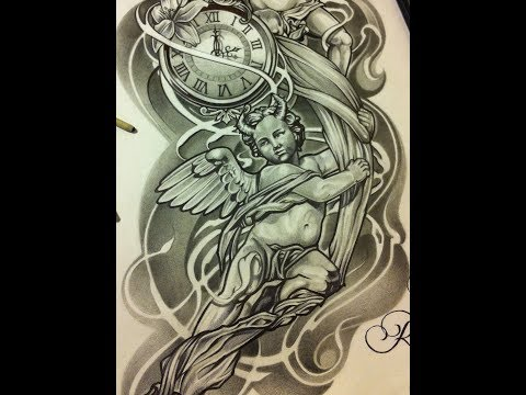 Angels Devils Chicano Style Tattoo Art