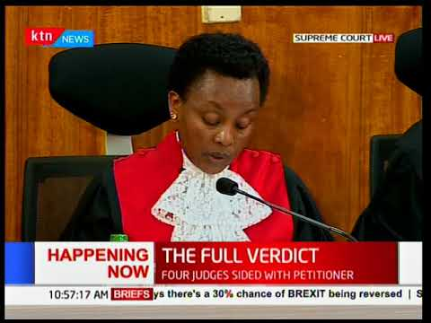 THE FULL VERDICT: Deputy Chief Justice, Philomena Mwilu on transmission of results