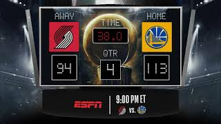 Trail Blazers @ Warriors LIVE Scoreboard - Join the conversation & catch all the action on ESPN!