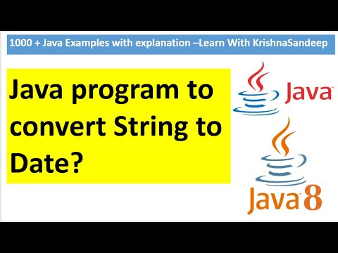How to convert String to Date in java? - YouTube
