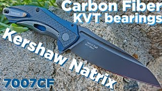 The Kershaw Natrix - Now dressed up in Carbon Fiber and KVT Action!