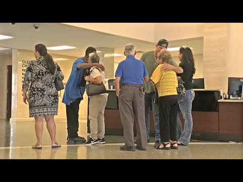 Family members of Seminole Heights murder victims walk into State Attorney's office