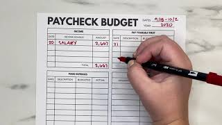 Paycheck Budget With Me | September Paycheck Budgeting | Travel Spending & Sinking Funds