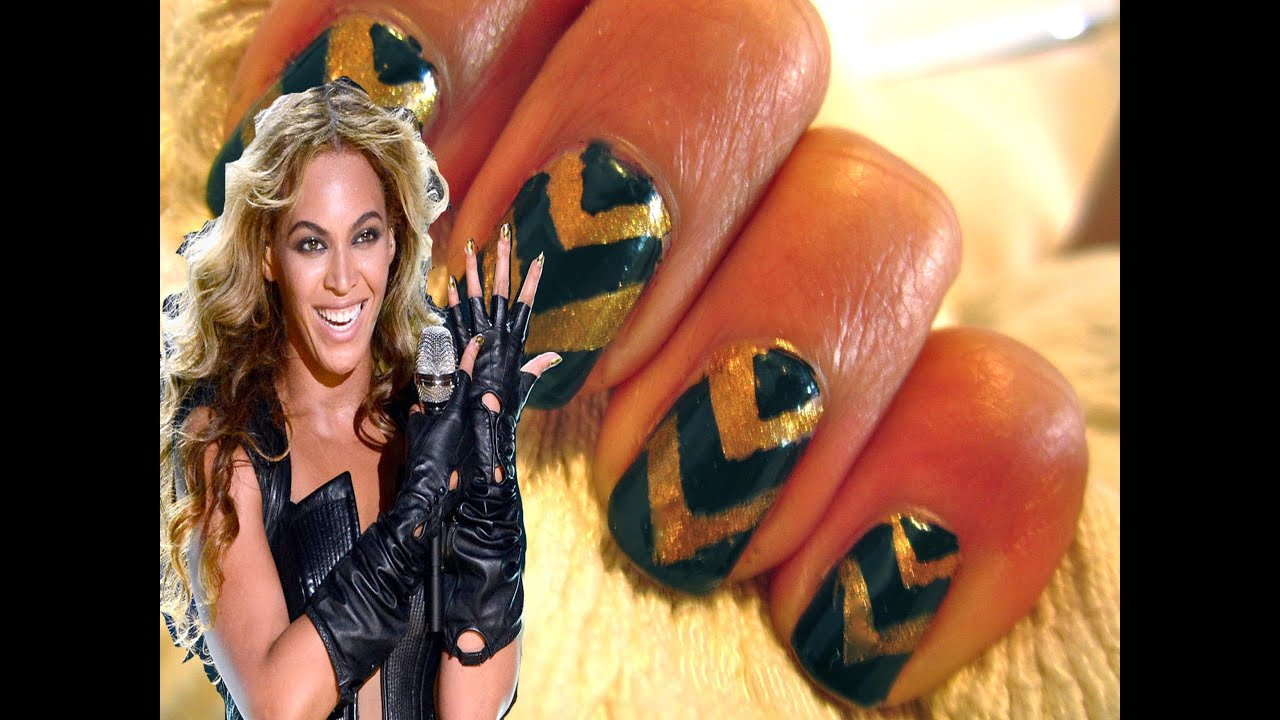 Beyonce Super Bowl Performance Nail Art Youtube