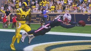 madden 17 career mode rb s5 ep 89 amazing diving catch another punt return touchdown