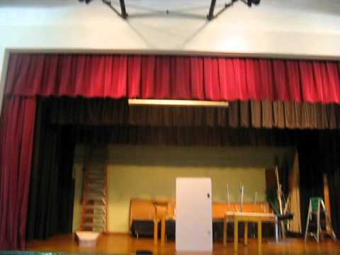 Stage, Seating Area, and Ceilings