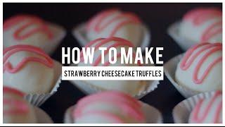 Strawberry Cheesecake Truffles | Follow The Freemans
