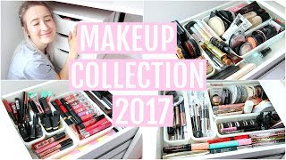 MAKEUP COLLECTION + STORAGE 2017 | Sophie Louise