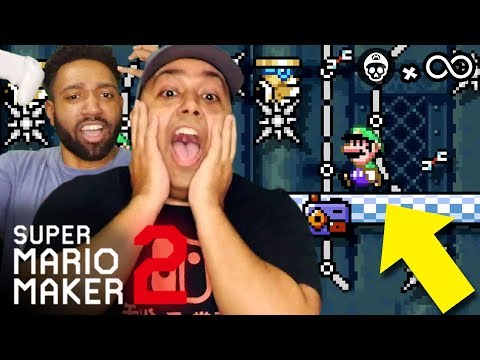THIS LEVEL WAS SO HARD, I NEEDED HELP... [SUPER MARIO MAKER 2] [#22]