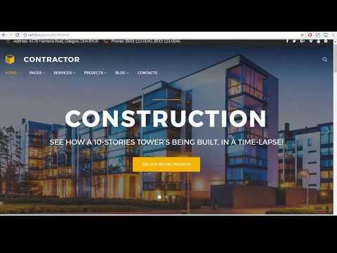 Шаблон сайта строительных материалов wordpress