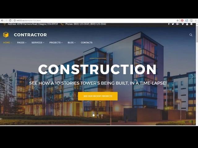 Шаблон сайта строительной компании (Wordpress)