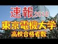 【速報】東京電機大学 2018年(平成30年) 合格者数高校別ランキング