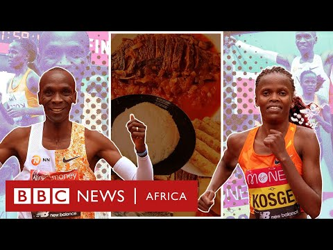 What do athletes eat to train for a marathon? - BBC Africa
