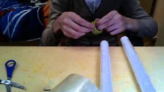 как сделать из бумаги оружие нунчаки