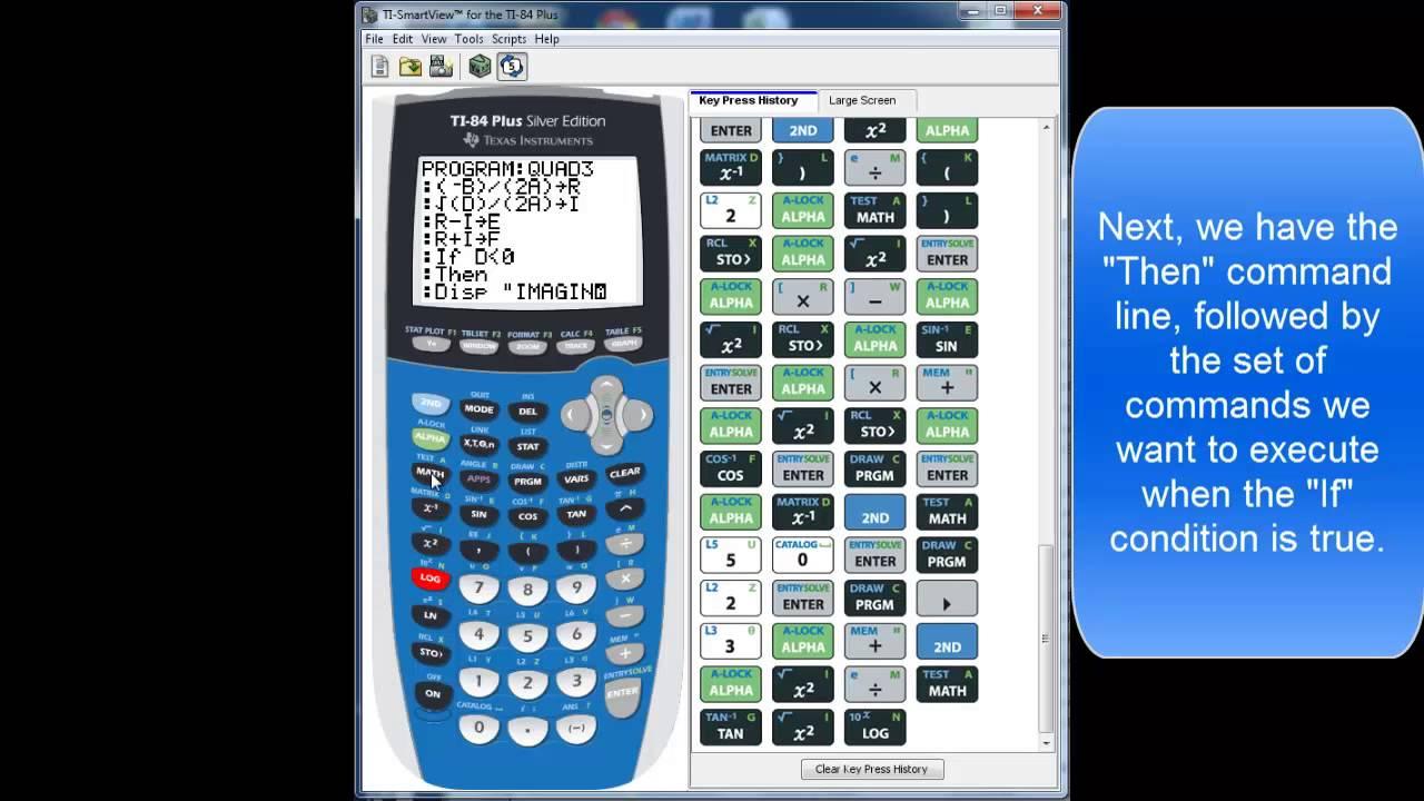 Ti84 Quadratic Equation Program