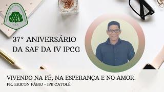 Vivendo na fé, na esperança e no amor - Rev. Ericon Fábio 27/02/2021
