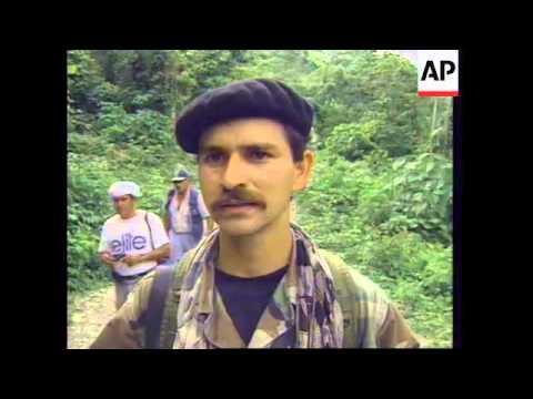 COLOMBIA: LOS ALPES: REBELS FREE LAST 4 AMERICAN HOSTAGES