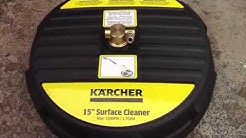 Karcher flat surface cleaner working in real time
