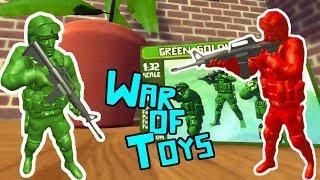 БИТВА ИГРУШЕЧНЫХ СОЛДАТИКОВ Игровой мультфильм для детей БИТВА ИГРУШЕК ДОМА War of Toys