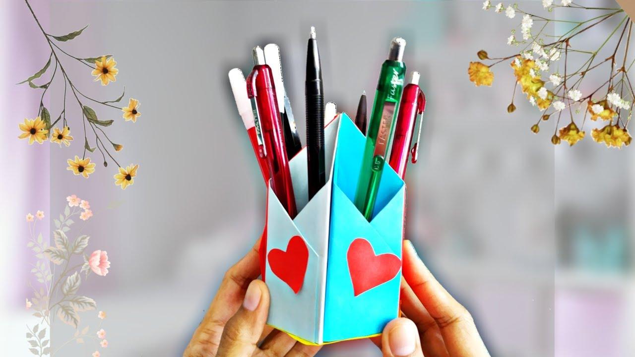 Kerajinan tangan dari kertas origami - membuat tempat ...