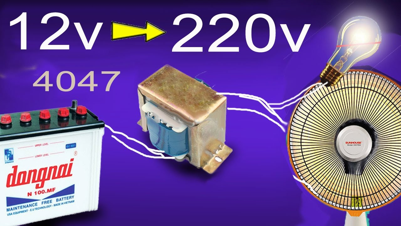 How To Make Inverter 12v 220v Simple Circuit Diagram Youtube Table Fan Motor Wiring Get Free Image About