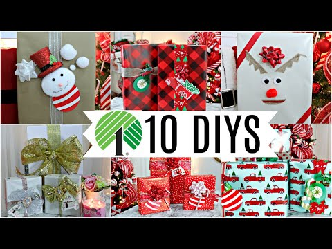 "🎄10 DIY DOLLAR TREE CHRISTMAS GIFT WRAP CRAFTS 2019🎄""I Love Christmas""ep36Olivia's Romantic Home D"