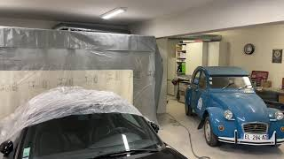 Cabine peinture rétractable Sellerpro paint booth mobile