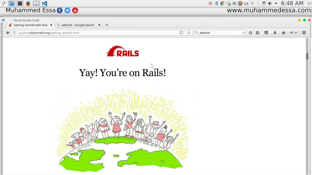 4 Ruby on Rails create project - YouTube