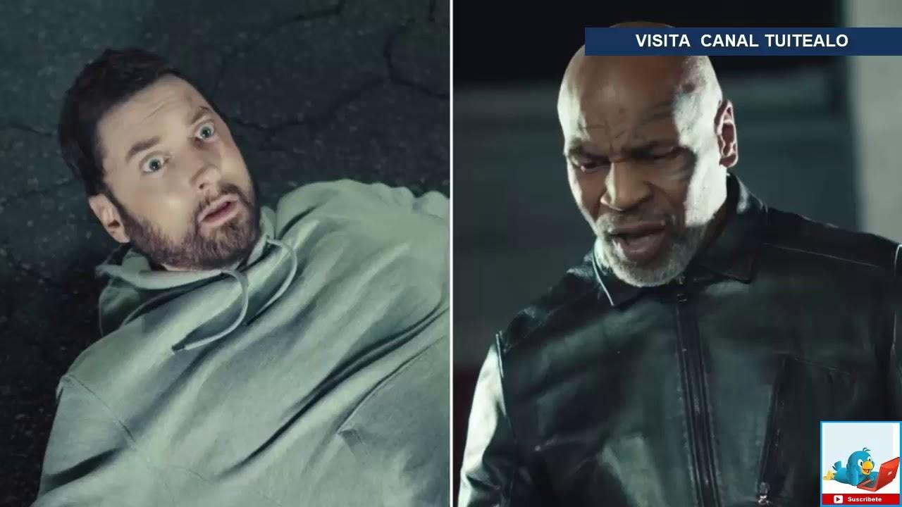 Eminem, noqueado por Mike Tyson en su nuevo video