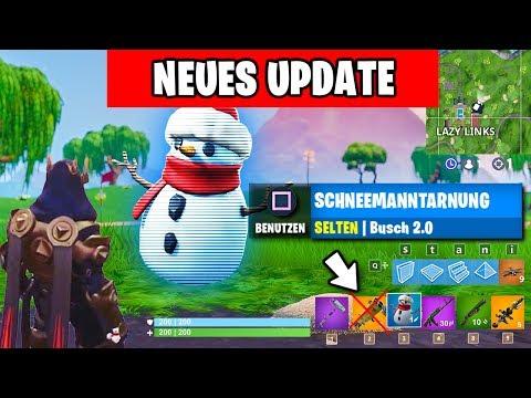 NEUES Update ⛄ Schneemanntarnung Gameplay, Patch Notes, Map Änderung  | Fortnite Eiskugel Deutsch