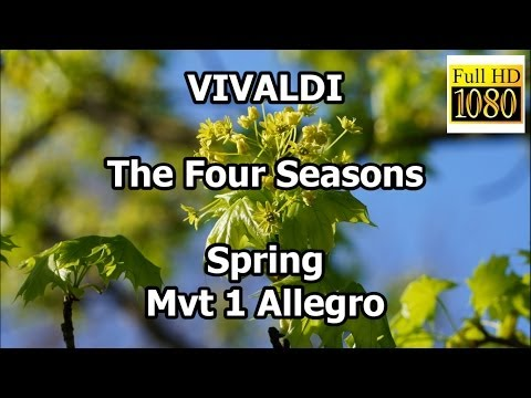 Vivaldi The Four Seasons Spring Mvt 1 Allegro classical music meditation pictures full hd