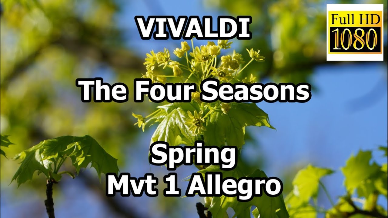 vivaldi the four seasons spring mvt 1 allegro classical. Black Bedroom Furniture Sets. Home Design Ideas