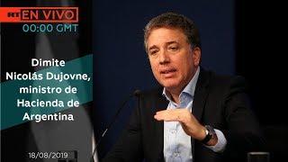 Dimite el ministro de Hacienda de Argentina, Nicolás Dujovne - NOTICIERO 18/08/2019