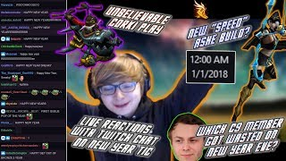 C9 Sneaky   New Years Celebration with Twitch Chat & Which C9 Player Got Drunk? + INSANE Corki Play