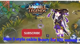 Top Best Video 5 fanny combo cable in top Lane