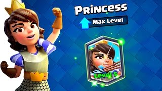MAX lvl 5 PRINCESS!! Clash Royale Legendary Shopping Spree!