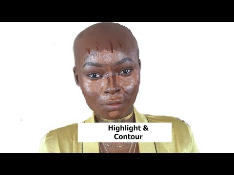 DETAILED:  FOUNDATION HIGHLIGHT AND CONTOUR  ROUTINE | DARK SKIN