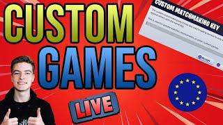 🔴CUSTOM MATCHMAKING EU!! SCRIMS + KILL ON SIGHT!! FORTNITE *LIVE* HOSTING CUSTOM GAMES!!