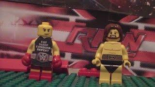 Lego WWE Raw promo Brock Lesnar vs Daniel Bryan