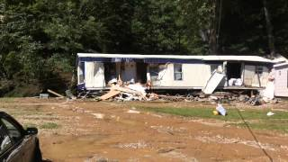 Destructive, deadly flooding in Johnson County, Ky.