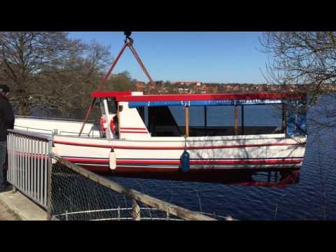 """""""Margrethe I"""" søsættes i Viborg-søerne"""