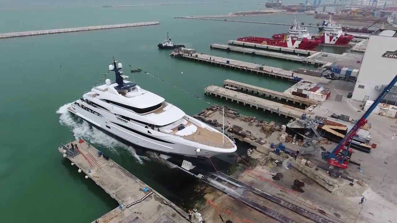The Launch of CRN's 74m CLOUD 9 Yacht