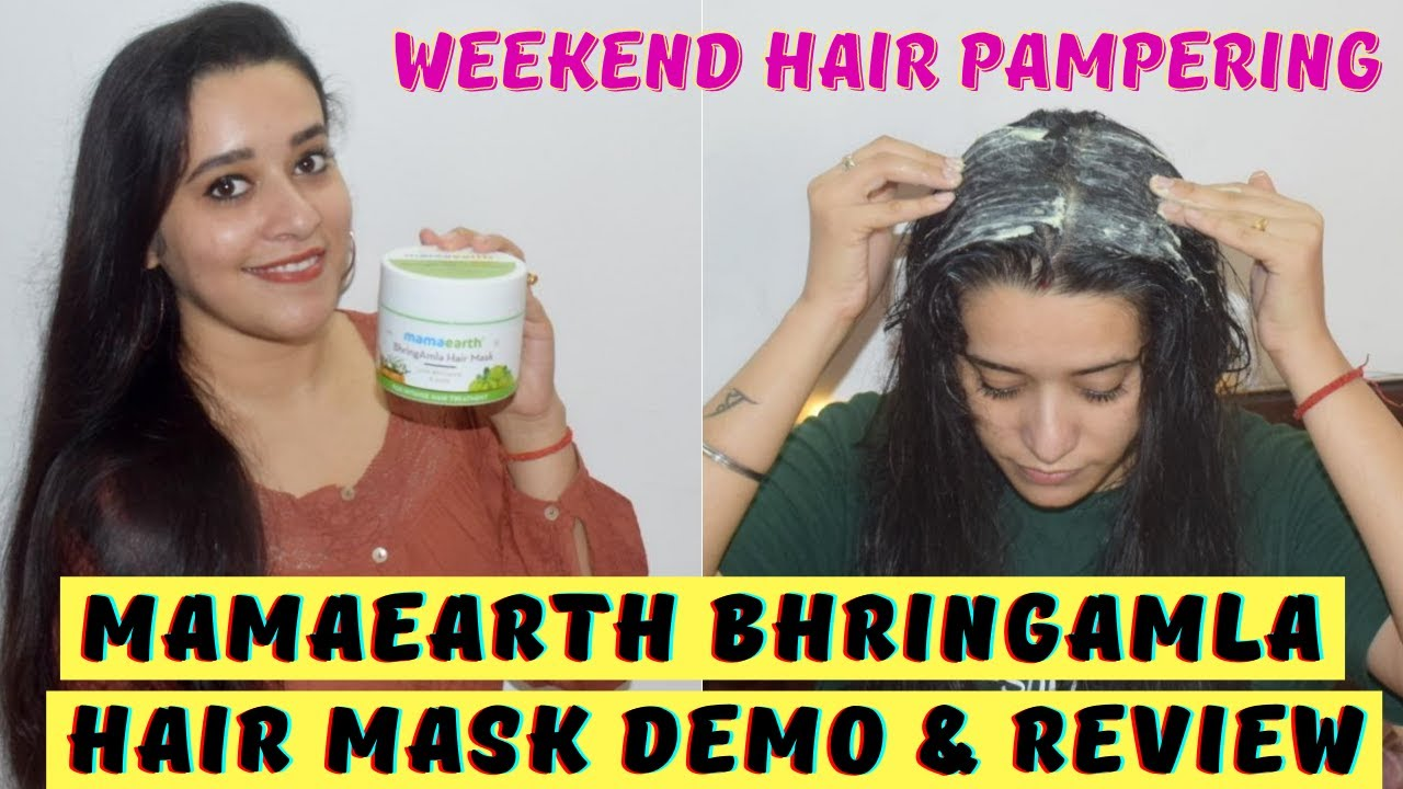Mamaearth BhringAmla Hair Mask Demo & Review #KshirPakChallenge | Hair Mask For Dry, Frizzy Hair
