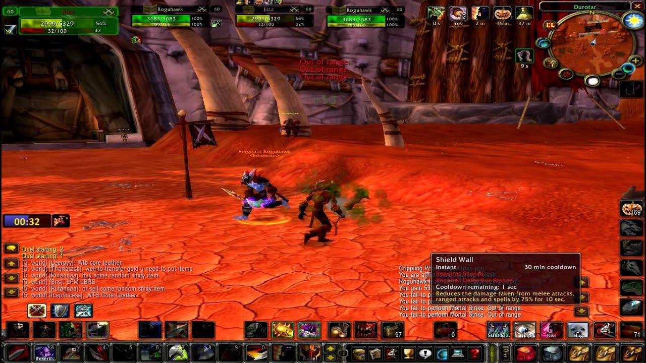undead warrior vs troll rogue vanilla gaming youtube