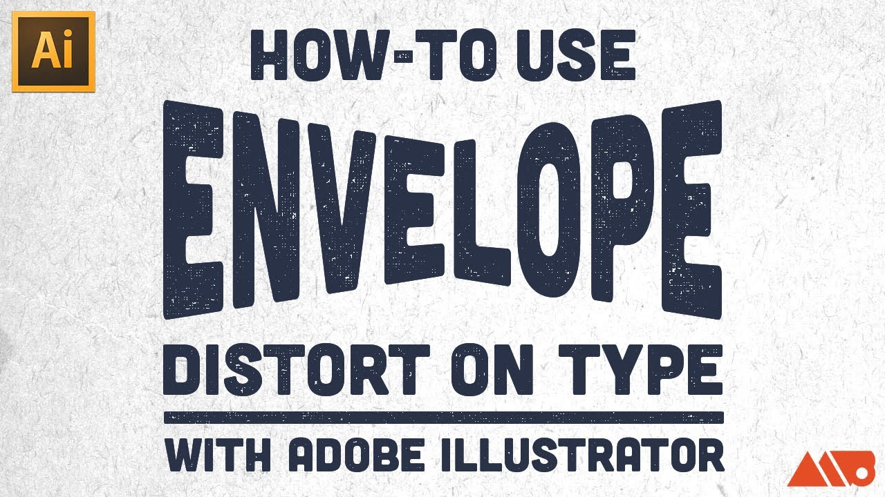 How to use envelope distort on type in adobe illustrator tutorial how to use envelope distort on type in adobe illustrator tutorial youtube aljukfo Gallery